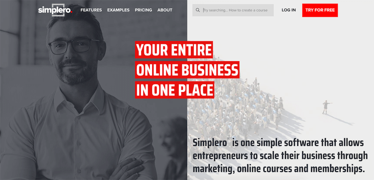 simplero homepage