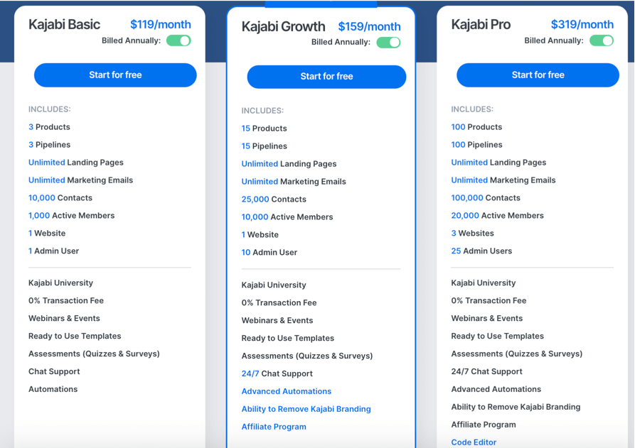 kajabi new pricing