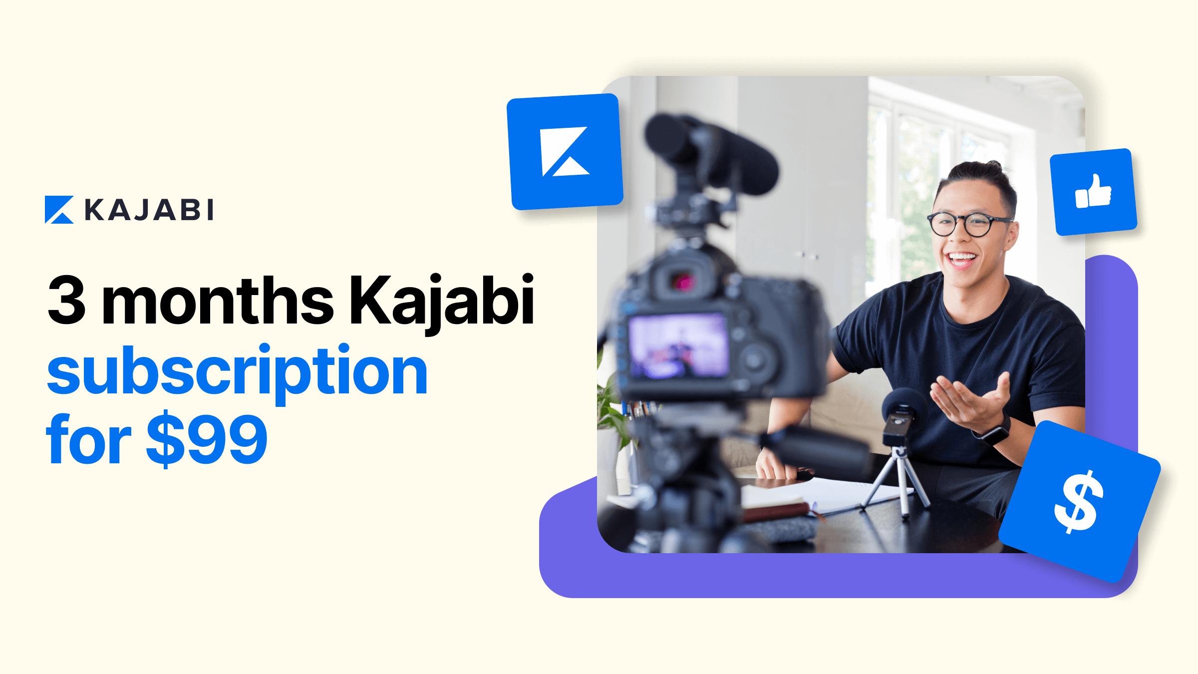 Kajabi 3 Months For $99 Promotion